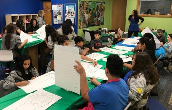 Kids drawing at GBBGC
