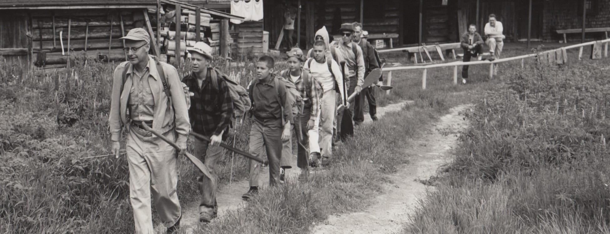 hikers at camp